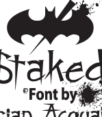 Staked Font Set